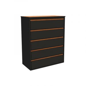 Empire Steel 5 Drawer Chest